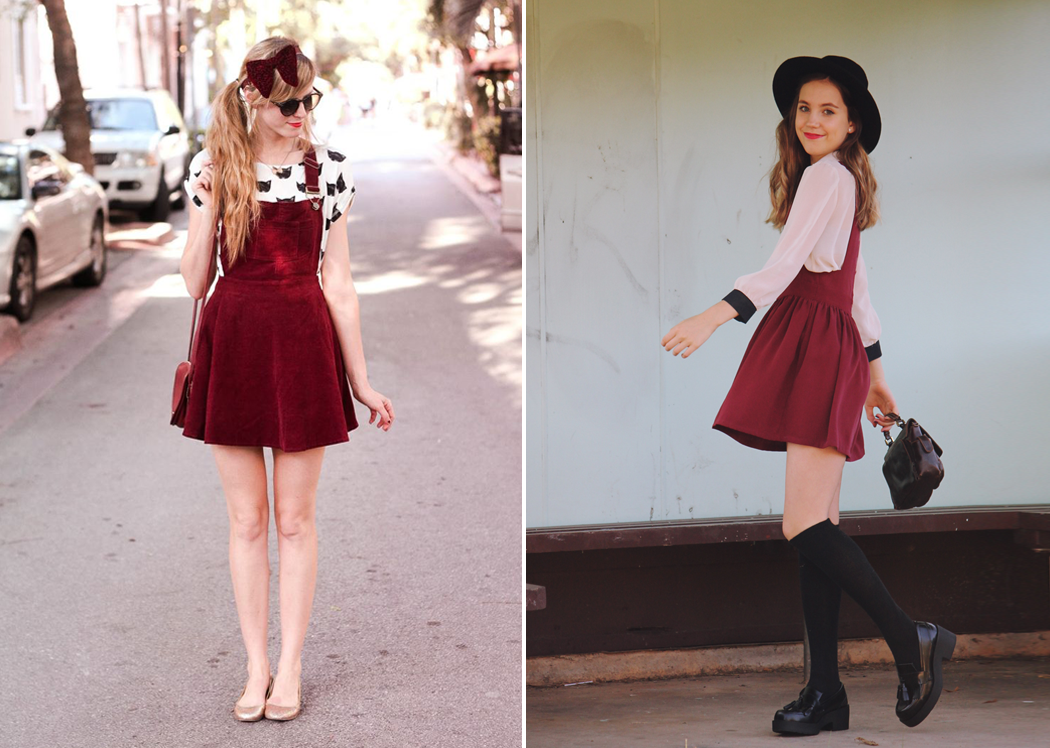 Retromantisch retro romantic fashion blog streetstyle pinafore dresses how to style bloggers steffys pros and cons Steffy - views of now isabella