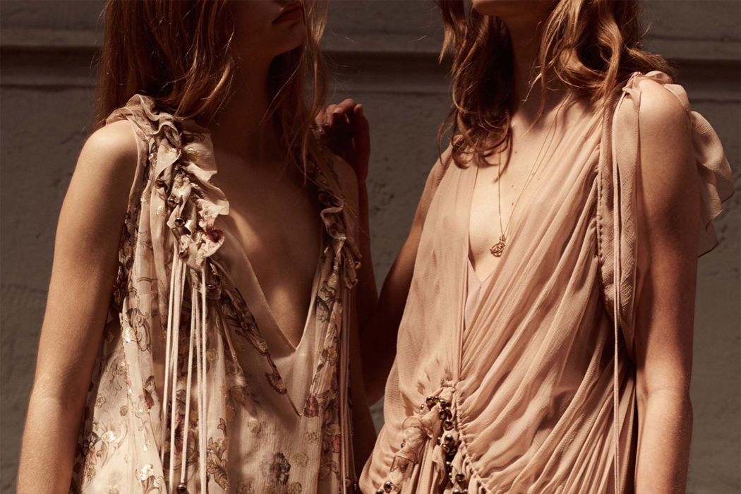 Retromantisch retro romantic fashion blog Chloé Resort 2016 collection dresses lace sheer floral dress ruffle