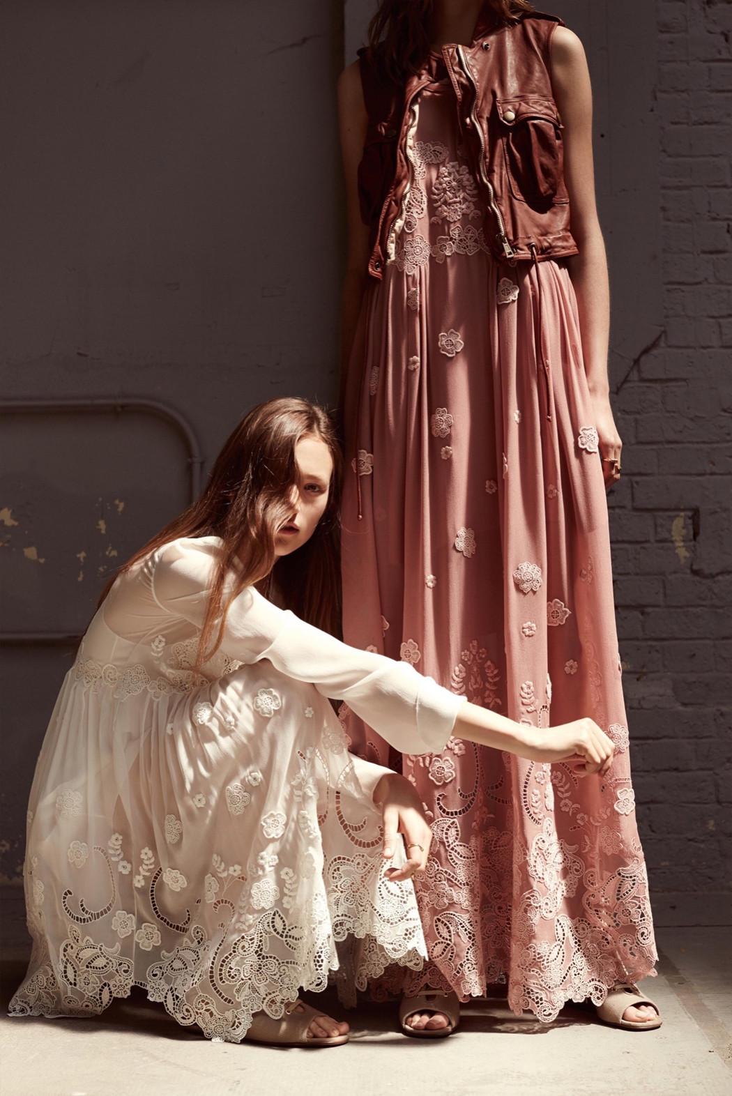Retromantisch retro romantic fashion blog Chloé Resort 2016 collection dresses lace sheer floral