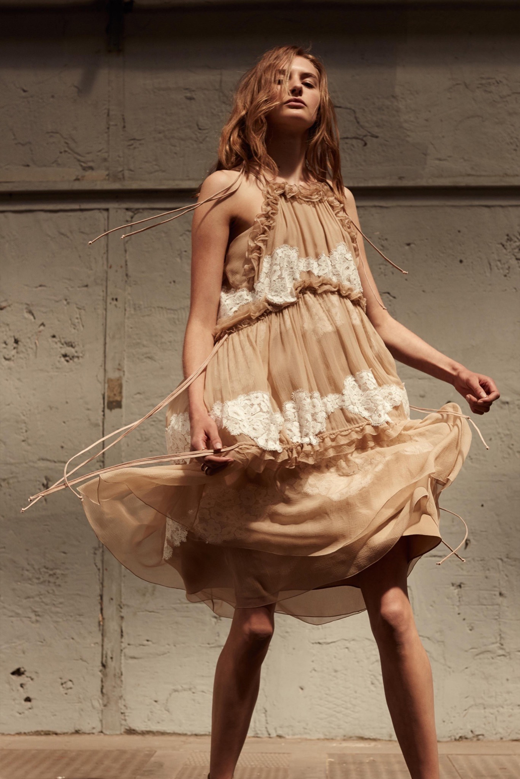 Retromantisch retro romantic fashion blog Chloé Resort 2016 collection dresses ruffle floral lace