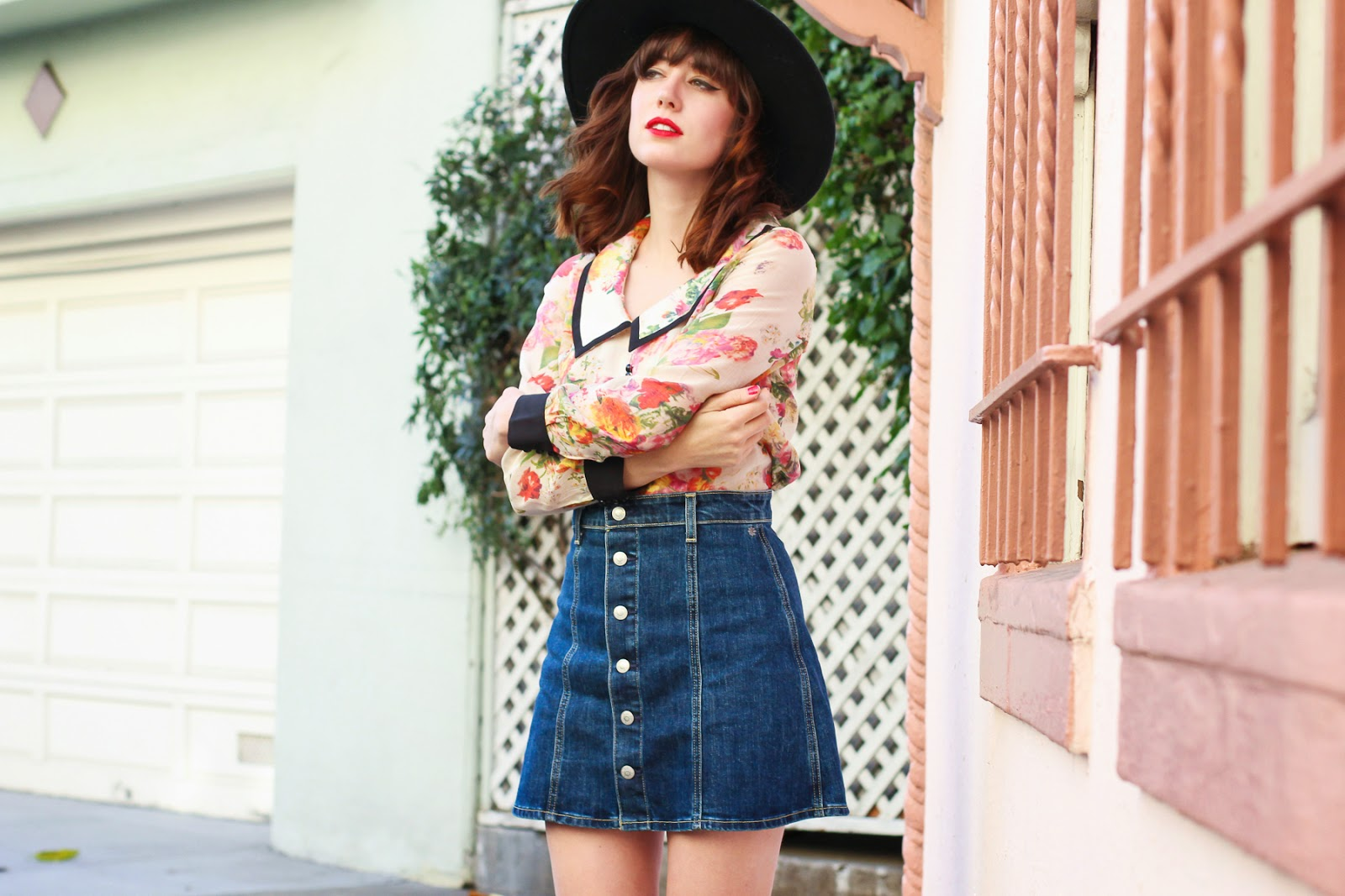 Retromantisch retro romantic fashion blog bangs fringe hat pony A fashion nerd ryan chua