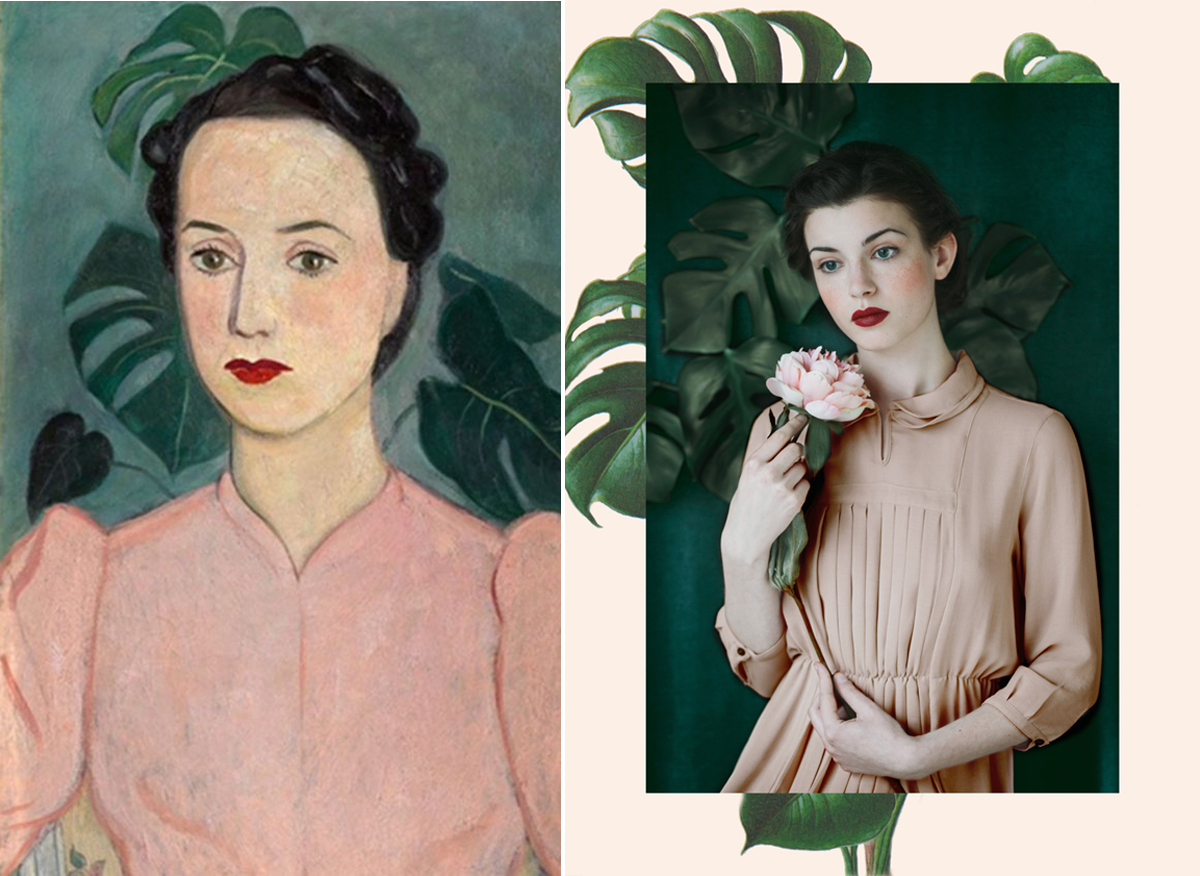 Retromantisch monia merlo photography green gallery philosophical beauty Portrait of a Lady in Pink Einar Jolin