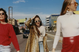 Retromantisch girl gang Haim band female