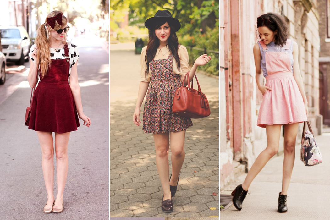 Retromantisch retro romantic fashion blog streetstyle pinafore dresses how to style bloggers steffys pros and cons Steffy Jazmine jazzabellesdiary flashes of style bonnie