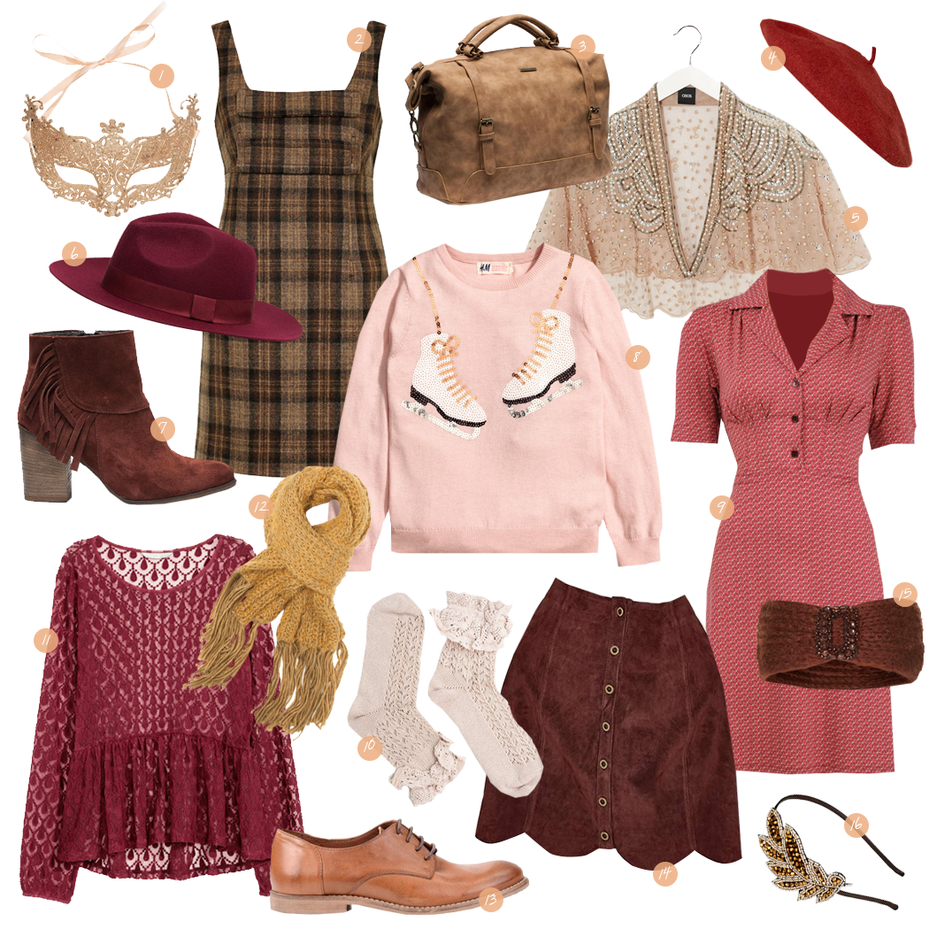 Retromantisch retro fashion blog Invito H&M Urban Outfitters Asos King Louis Topshop Sacha romantic wishlist Christmas