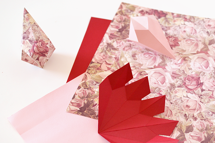 Retromantisch retro fashion blog DIY crystal kristal papier paper origami karton vouwen